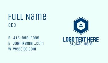 Blue Window Hexagon Business Card