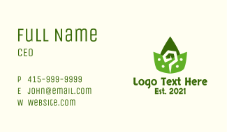 Aztec Leaves Pattern Business Card