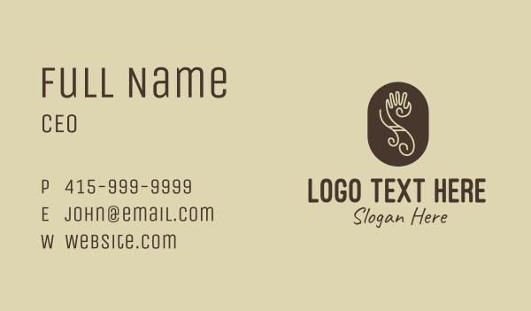 tattoo studio - Tribal Letter S Hand Business card horizontal design