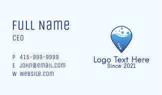 Laundry Shop Pin  Business Card