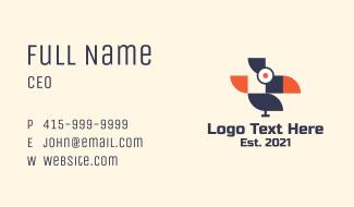 Geometric Wild Bird Business Card