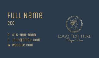 Golden Queen Coin Business Card