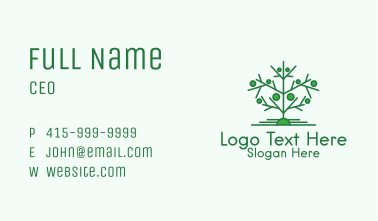 Green Tree Forestry  Business Card
