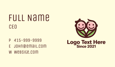 Twin Baby Swaddle  Business Card