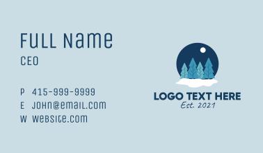Snow Globe Pine Trees Business Card