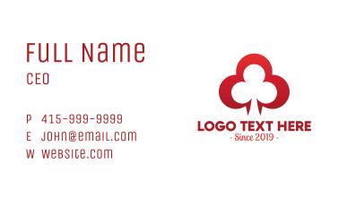 Elegant Clover Leaf Symbol Business Card
