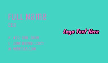 90s Pop Art Wordmark  Business Card