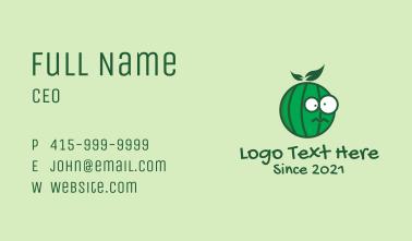 Watermelon Fruit Mascot Business Card
