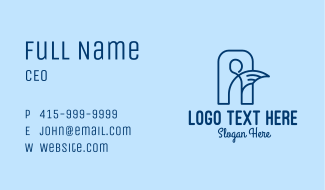 Blue Human Angel  Business Card