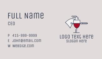 Wine Knight Warrior Business Card