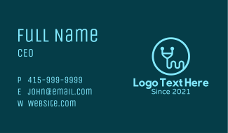 Letter Y Stethoscope Business Card