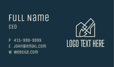 Spade Tool Shed Business Card