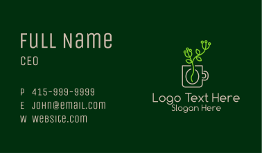 Minimalist Coffee Plant  Business Card