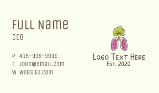 Eco-Friendly Tree Lungs Business Card