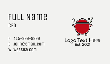 Kitchen Cooking Pot  Business Card