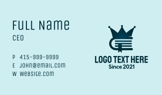 Crown  Book Business Card