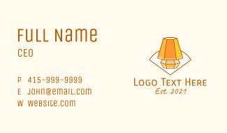 Room Light Line Art Business Card