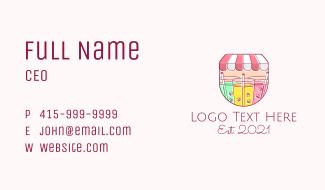 Cool Drinks Line Art Business Card