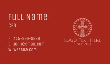 Minimalist Sword Emblem  Business Card