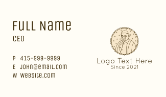 Old Man Father Portrait Business Card