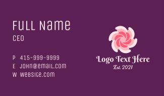 Spiral Floral SPA Business Card