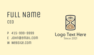 Cosmic Eye Hourglass Business Card