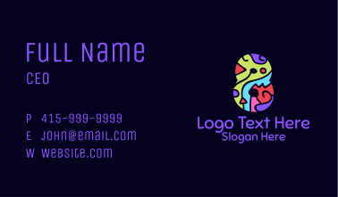 Colorful Shapes Number 8 Business Card