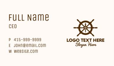 Ship Helm Navigation Business Card