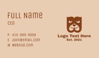 Bulldog Pet Club Business Card
