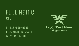 Military Star Wings  Business Card