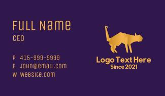 Golden Cat Origami Business Card