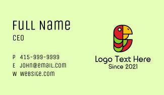 Jungle Parrot Mascot  Business Card