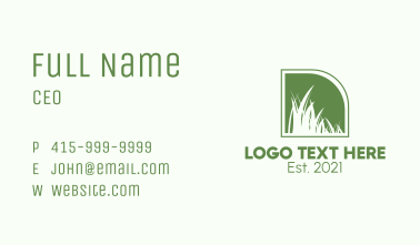 Green Field Backyard  Business Card