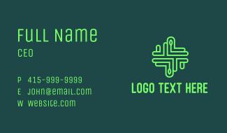 Green Organic Medical Cross Business Card
