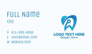 Blue Dental Tech Business Card