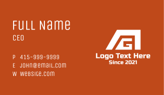 A & G Company Business Card