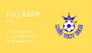 Royal Soccer Sports  Business Card