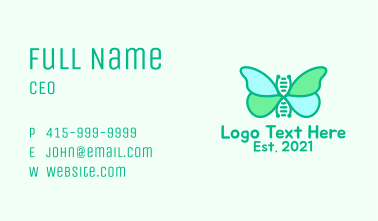 Butterfly DNA Strand  Business Card