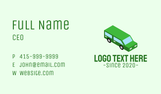 Isometric Car Travel Business Card