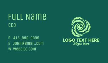 Green Leaf Camera Lens Business Card
