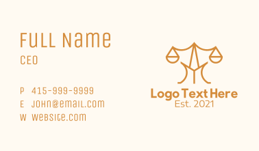 Law Scale Letter M Business Card