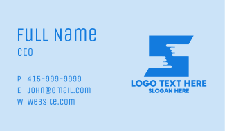 Finger Touch Letter S  Business Card