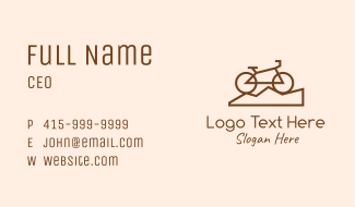 Mountain Bike Bicycle Business Card
