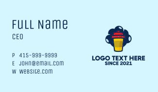 Spaceship Cafe Mug Business Card