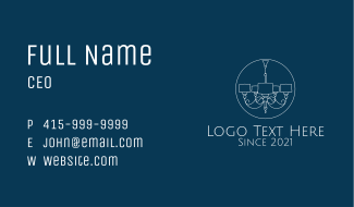Minimalist Grand Chandelier  Business Card