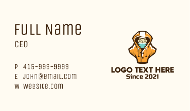 Face Mask Character Business Card