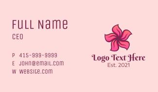 Pink Hawaiian Flower Business Card