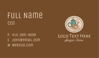 Vintage Coffeehouse Business Card