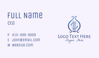 Blue Lyre Instrument Business Card