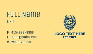 Blue God Avatar Business Card